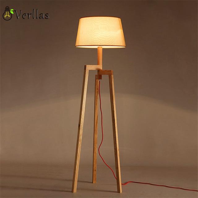 houten vloer lamp moderne met voetschakelaar woonkamer slaapkamer