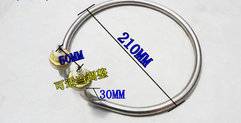 Free Shipping AC 220V 2000W 10mm Tube Dia. Electric Kettle Heater Element free shipping ac
