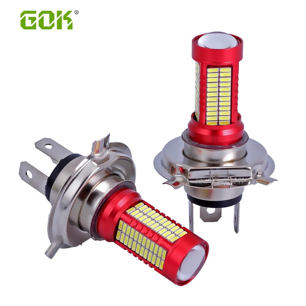 10 x H7 H8 H11 9005 9006 h4 smd led 4014 smd h4 106 LED-es izzó, - Autó világítás