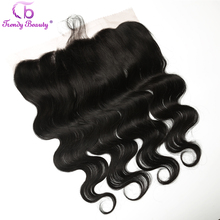 Trendy Beauty 13x4 Brazilian Body Wave Ear to Ear Pre Plucked Lace Frontal Closure With Baby