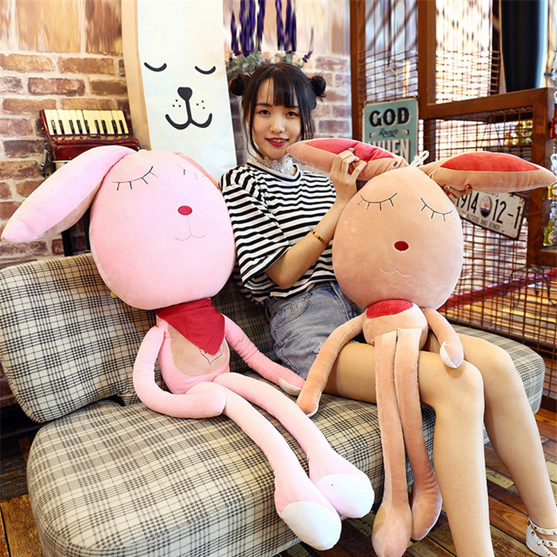 Fancytrader 150cm Lovely Plush Soft Cartoon Rabbit Toy Stuffed Giant 59'' Animal Bunny Nice Lover Gift fancytrader 150cm lovely plush soft cartoon rabbit toy stuffed giant 59 animal bunny nice lover gift