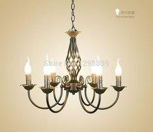 Американский минималистский свеча люстра/Творческий сад светильники гостиная столовая спальня лампа 2015 новый