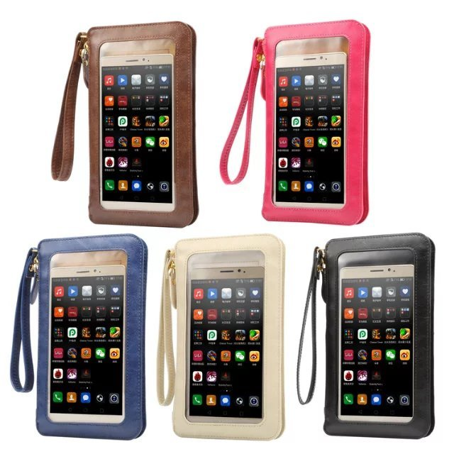 Full Touch Wallet Cover Girls Women's Handbag Phone Cases For Samsung iPhone Cell Phone