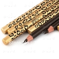 12 pcs Latest Waterproof Brown Eyebrow EyeLiner Pencil With Brush Leopard Design Drop Shipping