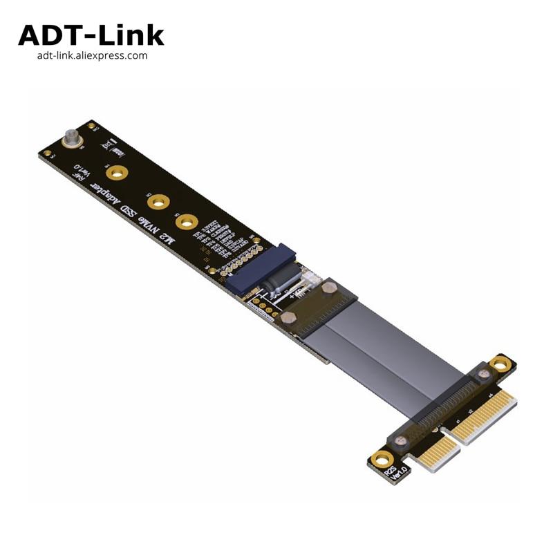 Riser PCIe 4x rallonge câble M2 M.2 NVMe SSD vers PCIe x4 adaptateur cartes Riser support de carte PCI-E 3.0x4 ADT R24SF pleine vitesse