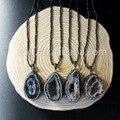 WT-NV034 Top colar de Ágata fatia druzy geode ágata druzy colar de jóias colar de cristal bruto