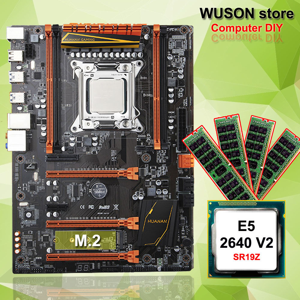 Hot Featured HUANAN ZHI deluxe X79 gaming motherboard computer DIY CPU Intel Xeon <font><b>E5</b></font> <font><b>2640</b></font> <font><b>V2</b></font> SR19Z memory 16G(4*4G) DDR3 REG ECC image