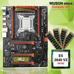 Hot In Primo Piano HUANAN ZHI deluxe X79 scheda madre di gioco del computer FAI DA TE CPU Intel Xeon E5 2640 V2 SR19Z di memoria 16G (4*4G) DDR3 REG ecc