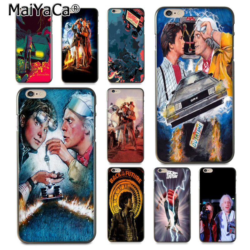 MaiYaCa Back To The Future Movie DIY Painted Phone Accessories Case for iPhone 8 7 6 6S Plus X 10 5 5S SE 5C Coque Shell