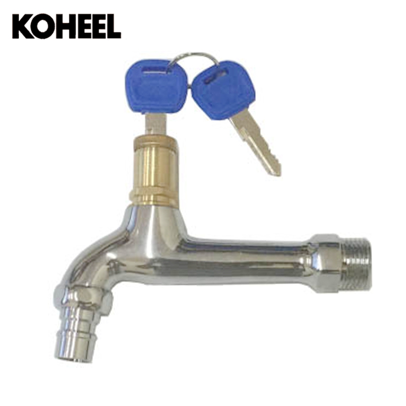 Outdoor Garden Public Places Faucet Locked Brass+Chrome Water Tap w ...