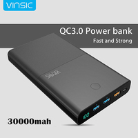 30000mAh Quick Notebook Power Bank 4 5A 19V DC 2 USB External Battery Charger For Laptops