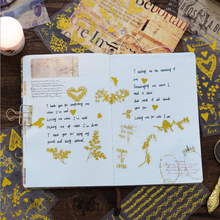 6 Pcs/box Best wishes gold stamping sticker DIY decoration stickers diary photo album scrapbooking planner label