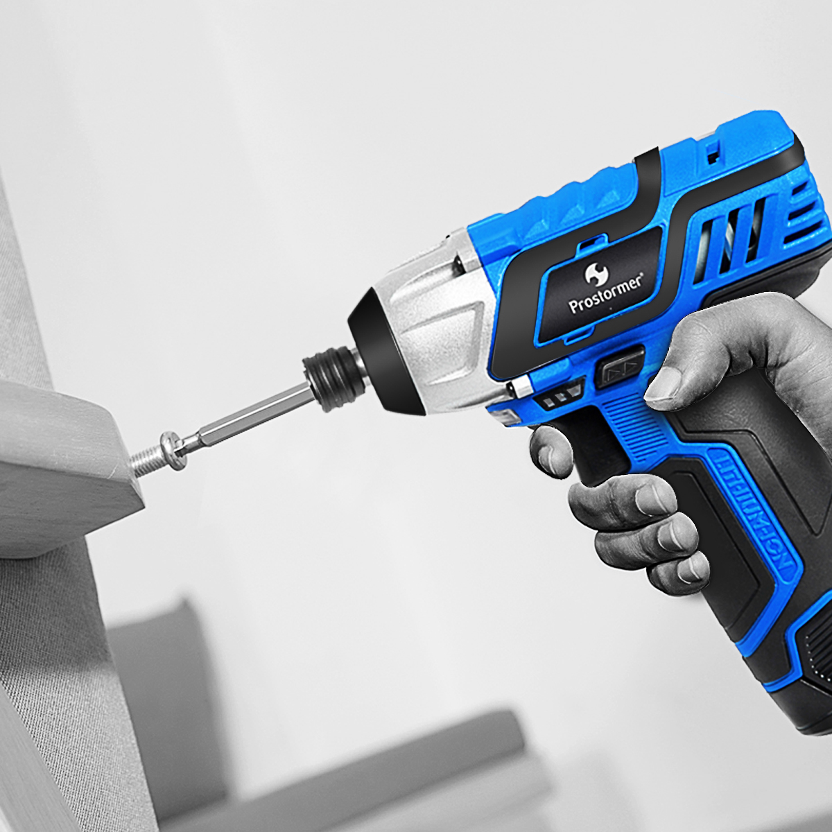 Image 5 - PROSTORMER 100NM Electric Screwdriver 12V Cordless Drill Lithium Battery Rechargeable Hexagon Power Cordless Screwdriver Screw-in Electric Screwdrivers from Tools on