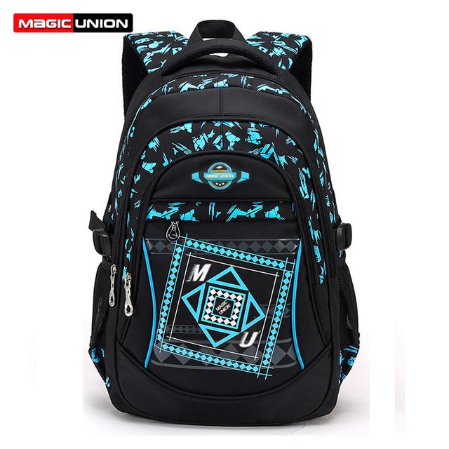 Magic union crianças escola bags para meninos das meninas crianças de alta qualidade mochila da escola primária mochilas sacos de moda à prova d' água