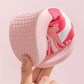 Cartoon Pink Panther kapcie Summer Slippers Women Non-slip laides beach slides chinelo pantuflas Pantofle domowe flip flops new