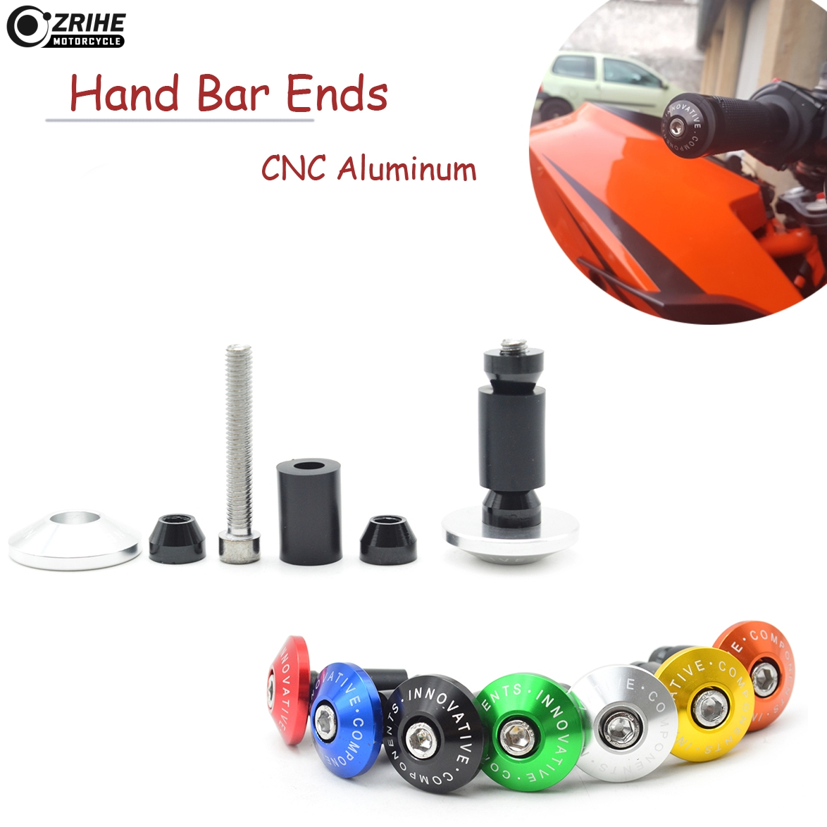 Motorcycle Handlebar Grips Ends Handle Hand Bar Ends Handlebar Caps For Suzuki Savage LS 650 Honda VTX 1300 C R S RETRO