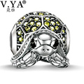 Silver Crystal Beads fit for Pandora Necklaces Bracelets Chain Amazing Elegant DIY Jewelry for Gifts Woman Man Charms