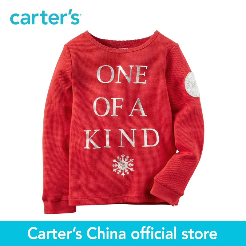 Carters 1pcs baby children kids clothing girl Fall&Winter Long-Sleeve unique slogan One Of A Kind Thermal 235G528