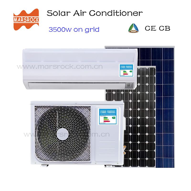 MARSROCK 3500W AC220V DC48V 12000BTU Inverter air conditioner cooling heating hybrid for home On Grid Solar Air Conditioner