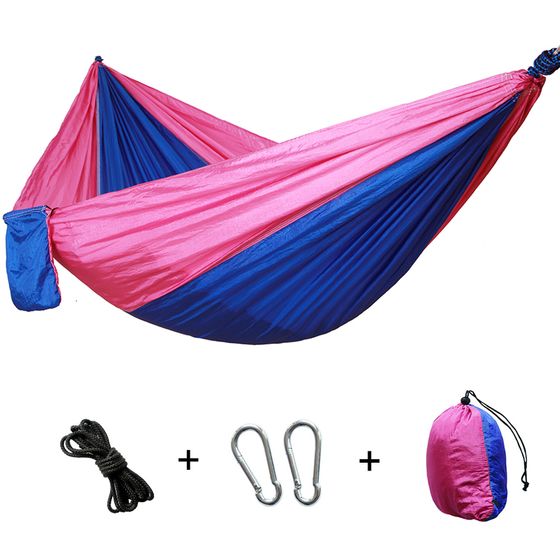 Superb Portable Camping Hammock Nylon Double Hammock Outdoor Furniture Hanging Chair Indoor Garden Swing Chair Hunting Leisure Bed Gift Alphanode Cool Chair Designs And Ideas Alphanodeonline