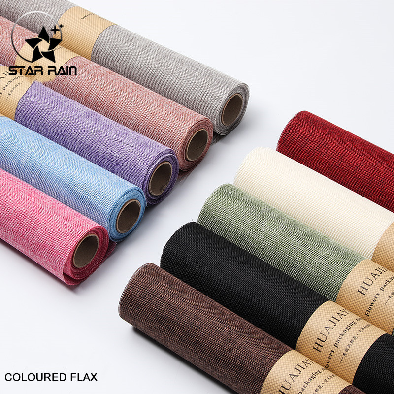 10pcs Cotton Linen Wrapping Cloth For Flowers Packaging Material Flowers Bouquet Packing Paper 60*49cm Wrap Florist Supplier