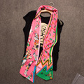 New 2016 silk Maxi Twilly Brand H Wrap Scarf Women Ladies Factory