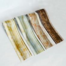 PVC Waterproof Self-adhesive Waist line Baseboard Sticker Living Room Kitchen Bathroom Tile Decor Wall Stickers Wallpaper Border цена