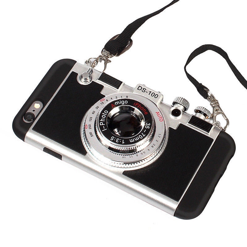 Luxury Retro 3D Camera Style Protective Phone Back Case Cover 2
