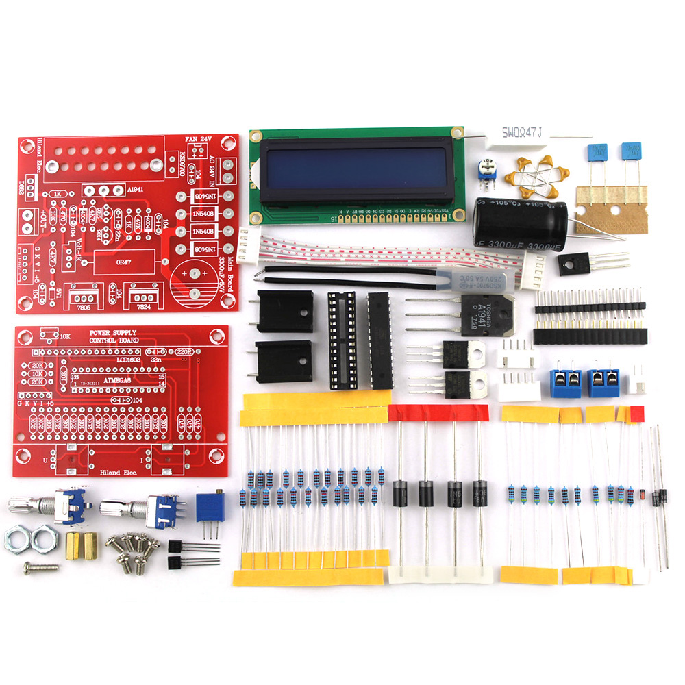 0 28v 001 2a Adjustable Dc Regulated Power Supply Diy Kit Lcd Volt Circuit Display Kitshort Current Limit Protection In Instrument Parts