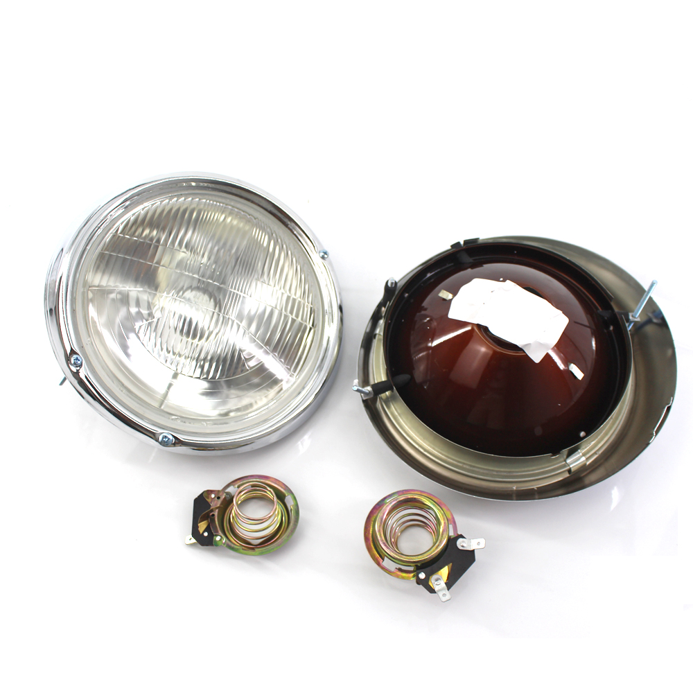 Front Chrome Clear Car Headlights for Volkswagen VW Beetle 1982 1997 Car Light Assembly Auto Headlamp