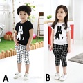 Giraffe Black White Baby Boys Clothes Suits 2017 Summer Hot Shorts Girls T-Shirts Grid Pants Children Sport Clothes Sets Kid Tee