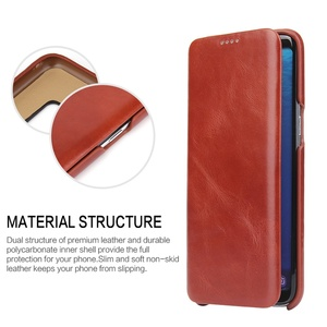 Image 2 - 100% Genuine Leanther Flip Cover Case for Samsung Galaxy S8 S8 Plus Built in Magnet Real Leather Case for SM G950F SM G955F S8+