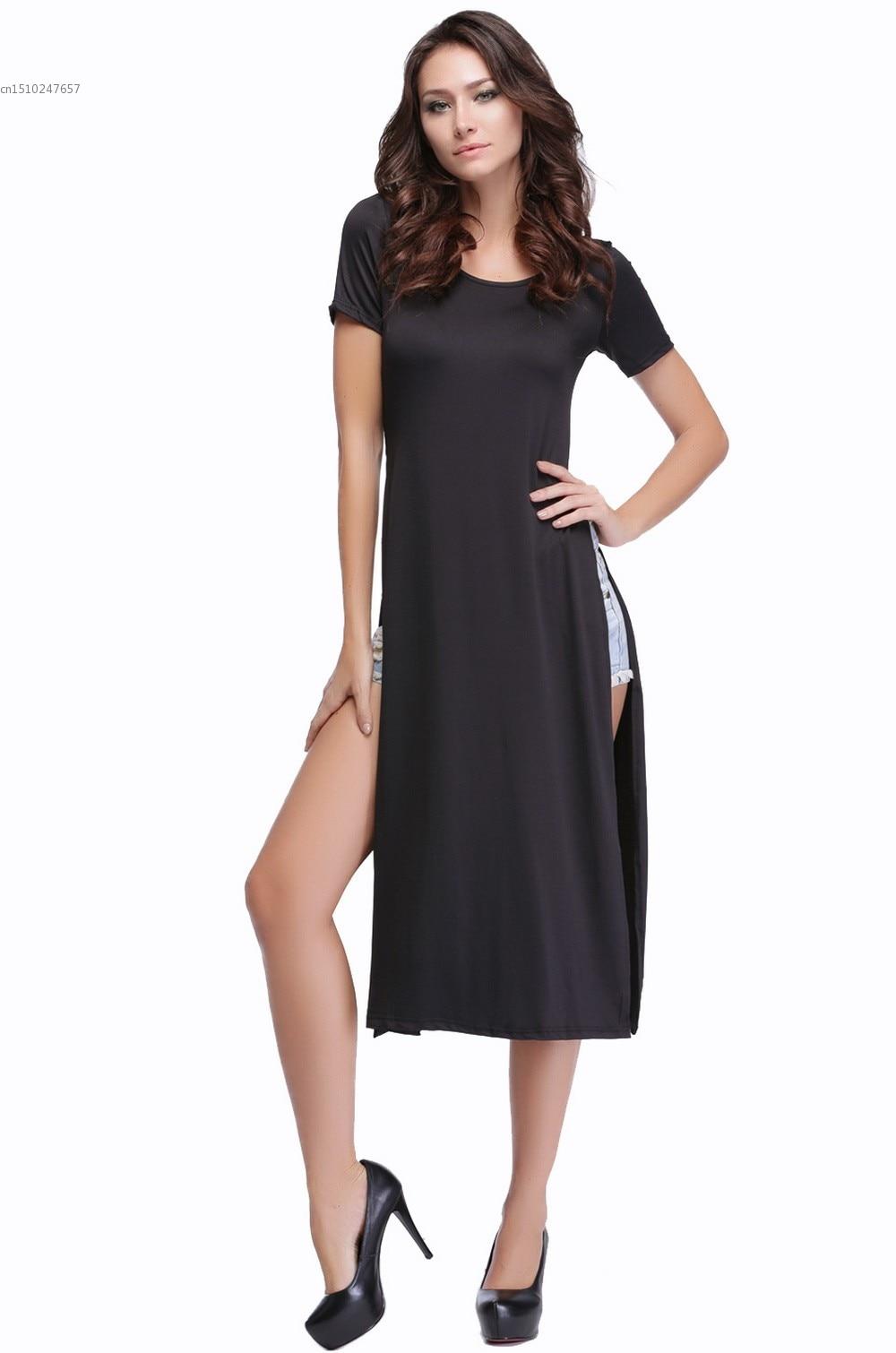 98172c39f00 Marca vestido de alta qualidade New punk longo verão casual gypsy tee  tshirt longo vestido de algodão mulheres vestidos maxi dress 36