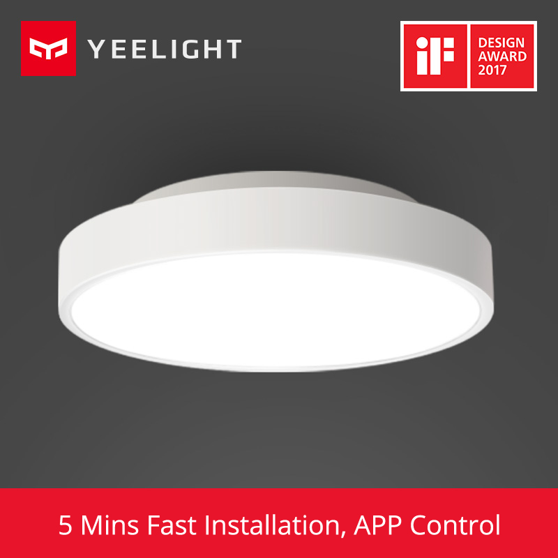 2018 Original Xiaomi Yeelight Smart Ceiling Light Lamp Remote Mi APP WIFI Bluetooth Control Smart LED Color IP60 Dustproof