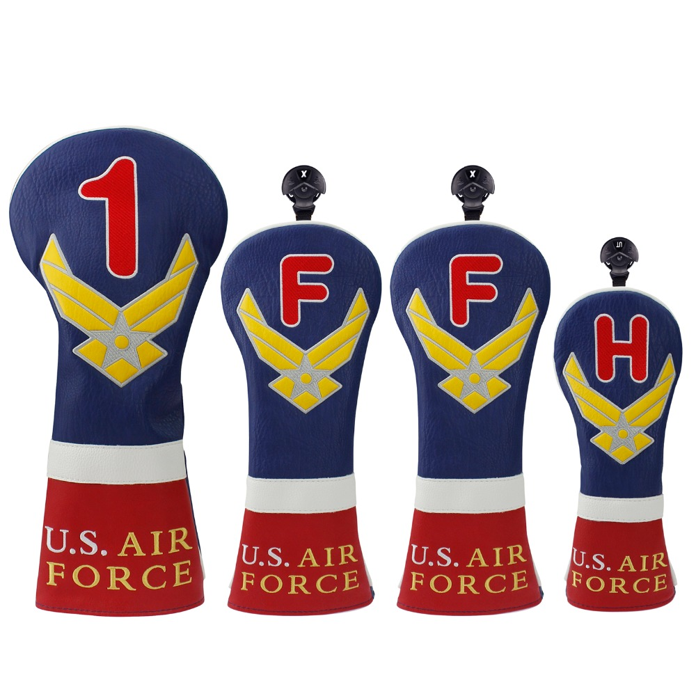 Craftsman Golf Head Cover Sets For Woods Driver / Fairway&FW / Hybrid&UT U.S. AIR FORCE FREE SHIPPING