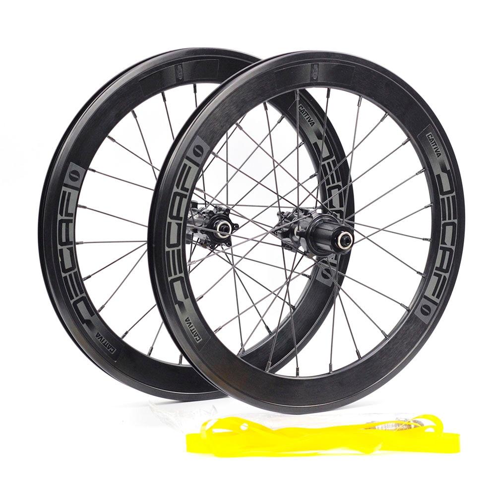 """2pc DECAF Alloy Rim 20/"""" 406 451 for Minivelo Folding 24H Clincher Rim V Brake"""