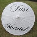 Прозрачный Зонтик для свадебного использования  смазанный бумажный зонтик  спасибо  что только что женились на сомбрилье параплюе  femme ...