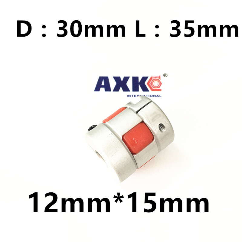 где купить  CNC Plum Shaft Flexible Coupler 12mm*15mm Motor jaw spider Coupling 12mm to 15mm Dia=30mm Length=35mm  по лучшей цене