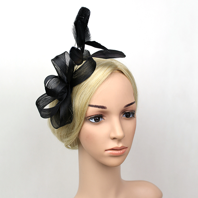 Wholesale 5pcs lot black hat fascinator wedding hats and fascinators ... aec4b54b8ae