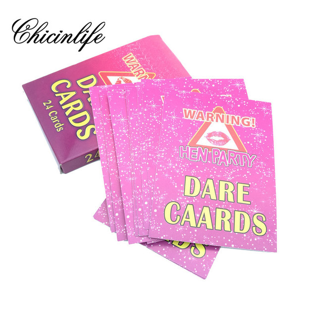 24pcs Lot Hen Party Dare Card For Bachelorette Night Supplies Wedding