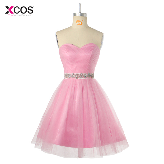 Beautiful Cheap Tulle Sweetheart Homecoming Dresses Short A-Line School Party Beaded Graduation Dress Vestidos de Festa