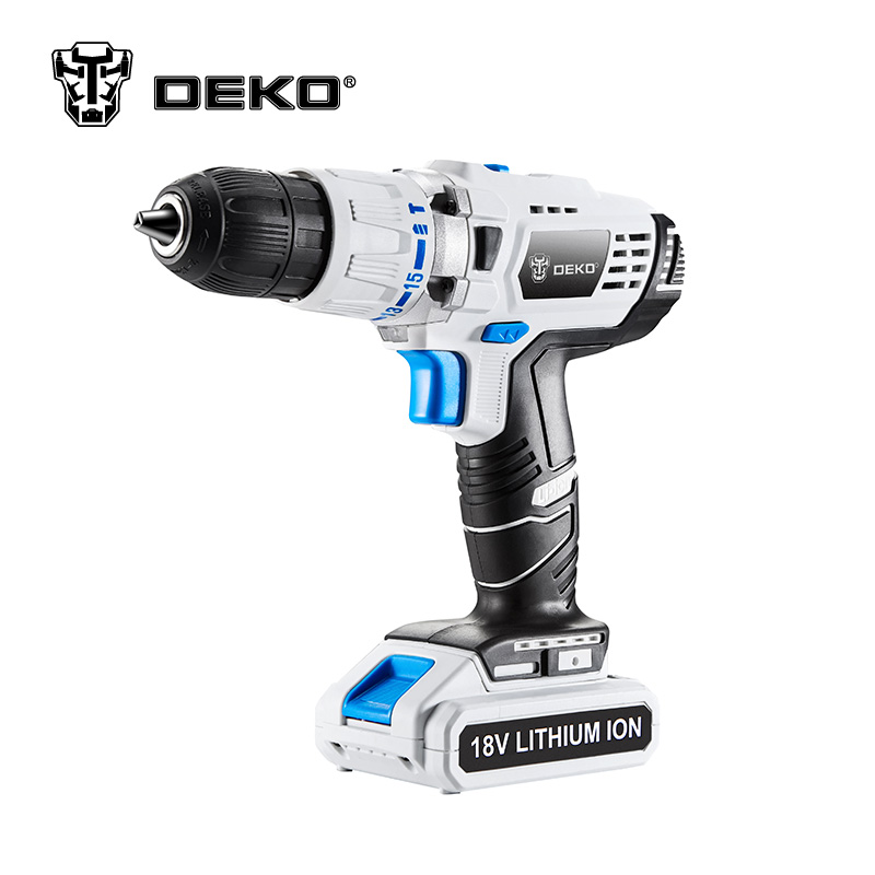 DEKO GCD18DU3 18V 50N.m DC New Design Mobile Power Lithium-Ion Battery Cordless Drill Power Drill Impact Drill Electric Drill 3 7v lithium polymer battery 925593 5200mah mobile power tablet pc diy