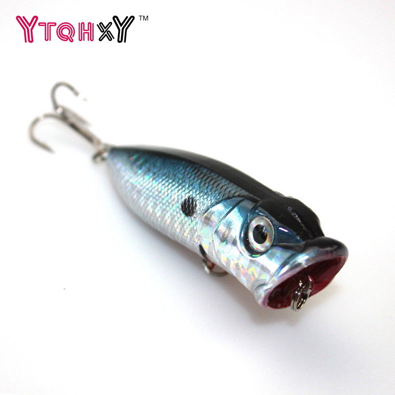 1pcs 6.5cm 10g Popper Fishing Lure isca artificial fishing bait Crankbait Wobblers 6# high carbon steel hook Fishing Lures WQ203