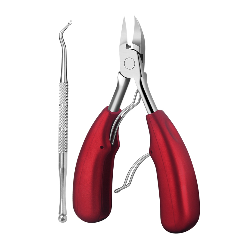 2pcs/set Red Double Springs Stainless Steel Nail Cuticle Nipper Scissors Cutter Nipper Manicure Podiatry Pedicure Tools  NT70 stainless steel pedicure manicure set nail clipper scissors nail care nipper cutter cuticle grooming kit