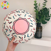New Ins Comfortable Personal Creative Design Home Office Head Rest Pillow Cushion Men Women Leaf Donut Shape Cute Plush Pillow