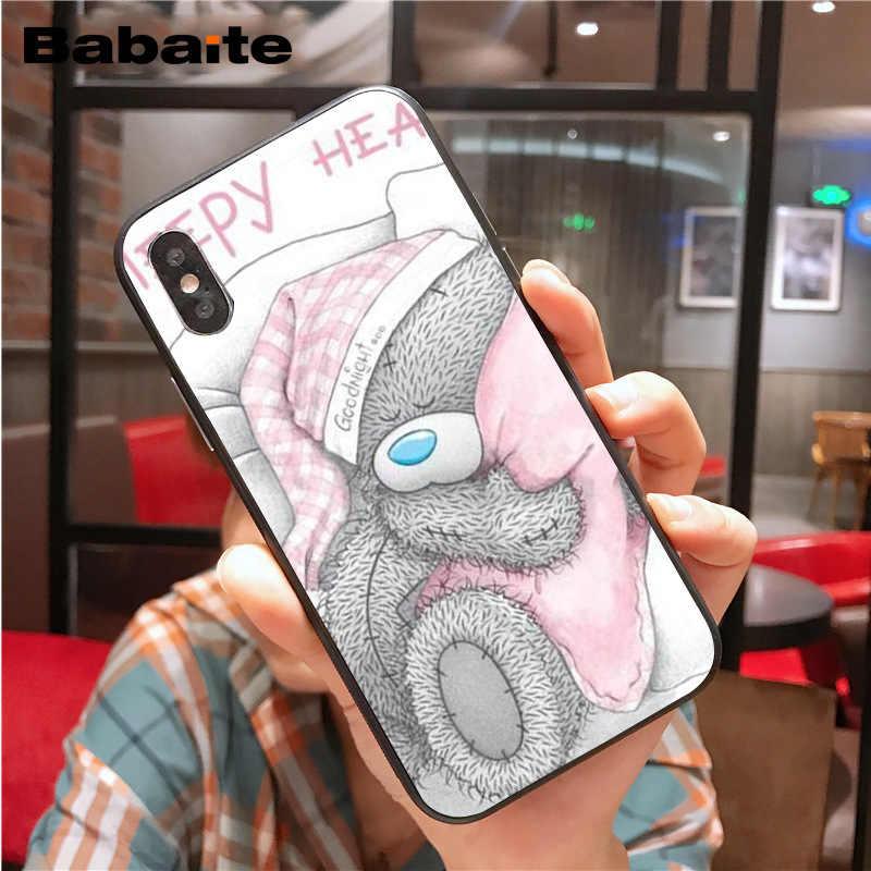 Voor iphone 11pro max Tatty Teddy Ik Je Beer Zwart Mobiele Telefoon Case voor iphone X XS MAX 6 6s 7 7plus 8 8Plus 5 5S SE XR