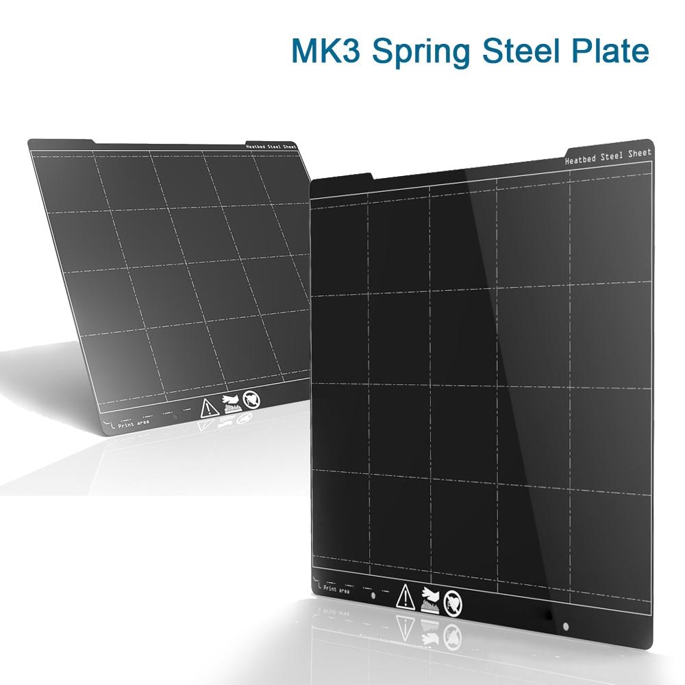 MK3 I3 Spring Steel Plate 254*241MM Printing Platform Sheet Textured PEI Film Power Coated Heatbed For Prusa I3 MK3 MK3S Ender3