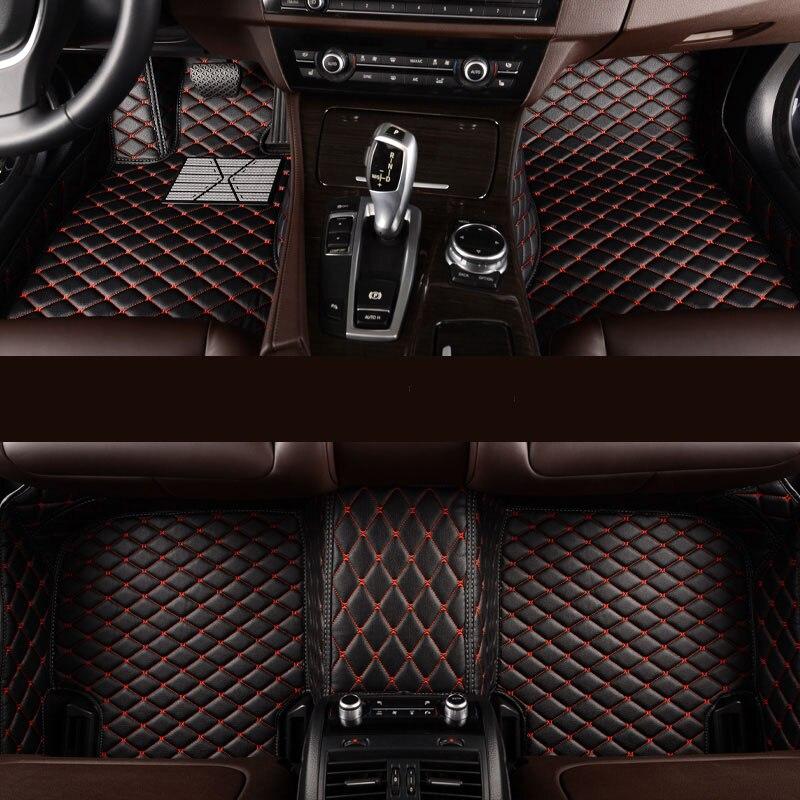 Tapis de sol de voiture sur mesure kalaisike pour Hyundai tous les modèles accent de terrasse azera lantra elantra tucson iX25 i30 iX35 Sonata