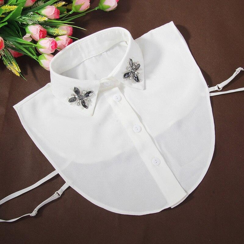 Shirt Women Lapel Fake False Collar Tie Vintage Detachable Collar Lapel Blouse Top Women Clothes Accessories