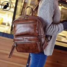 ETONWEAG New 2016 men famous brands laptop multi-functional school bags vintage fashion travel bags cow leather backpack